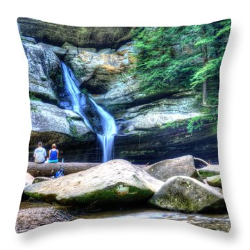 Colorful Cedar Falls Picnic  Throw Pillow