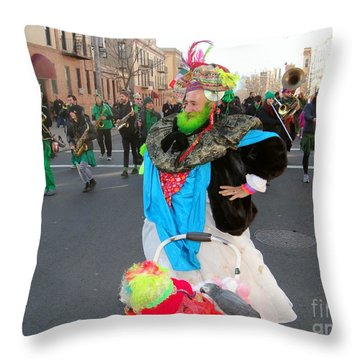 Colorful Character Throw Pillow by Ed Weidman