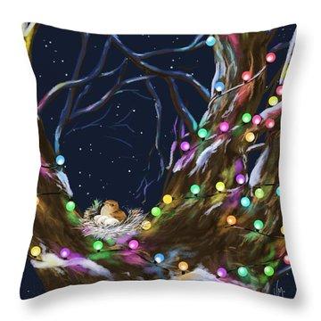 Colorful Christmas Throw Pillow