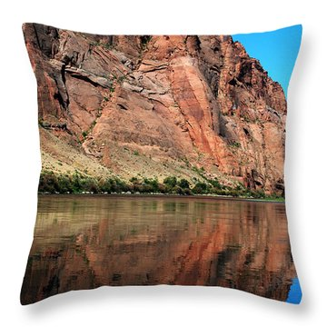 Colorful Cliffs Throw Pillow