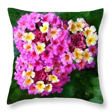 Colorful Cluster Throw Pillow
