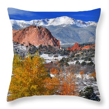 Colorful Colorado Throw Pillow by John Hoffman