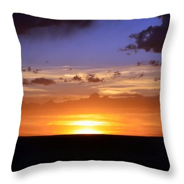 Colorful Colorado Sunset Throw Pillow by Clarice  Lakota