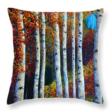 Colorful Colordo Aspens Throw Pillow