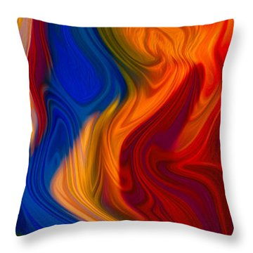 Colorful Compromises Throw Pillow by Omaste Witkowski