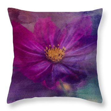 Colorful Cosmos Throw Pillow