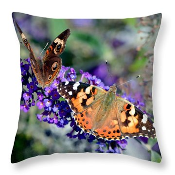 Colorful Cousins Throw Pillow by Deena Stoddard