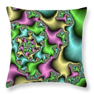 Throw Pillow featuring the digital art Colorful Depth by Gabiw Art