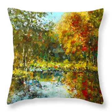 Colorful Dreams Throw Pillow