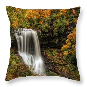 Colorful Dry Falls Throw Pillow