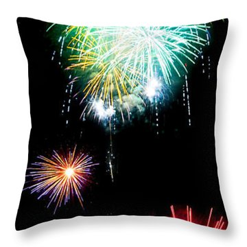 Colorful Explosions No3 Throw Pillow by Weston Westmoreland
