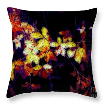 Throw Pillow featuring the digital art Colorful Fantasy by Irina Hays