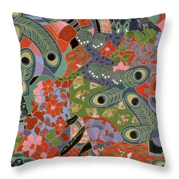colorful floral art - Earthly Delights Throw Pillow