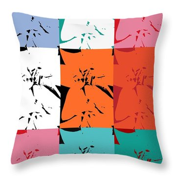 Colorful Flowers  Lily Throw Pillow