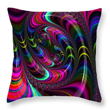 Colorful Fractal Art Throw Pillow
