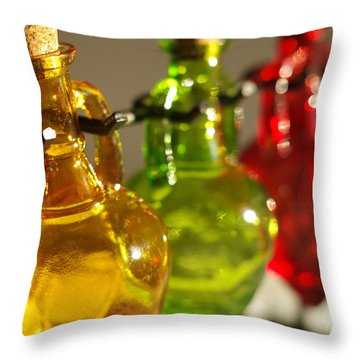 Colorful Glass Throw Pillow