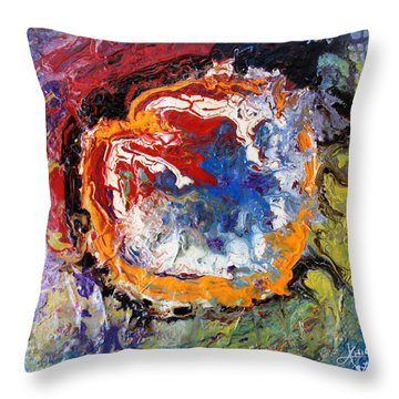 Colorful Happy Throw Pillow