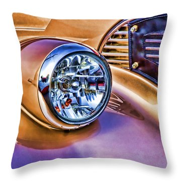 Colorful Hotrod Throw Pillow