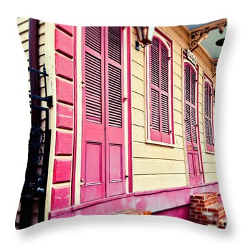 Throw Pillow featuring the photograph Colorful Houses by Sylvia Cook