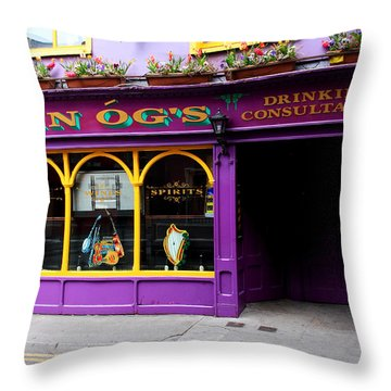 Colorful Irish Pub Throw Pillow