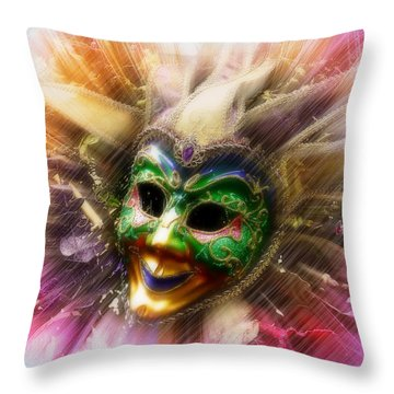Colorful Jester Throw Pillow