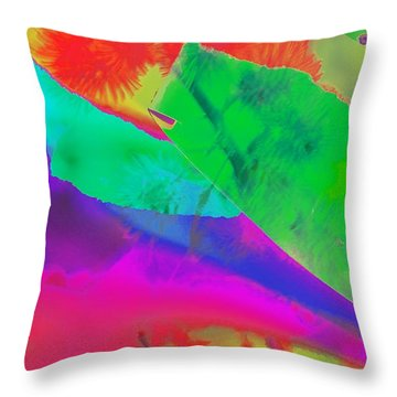 Colorful Throw Pillow by Kathleen Struckle