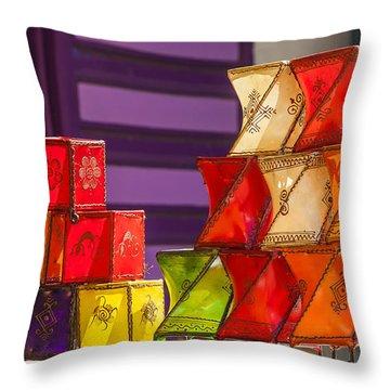 Colorful Lanterns Throw Pillow