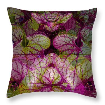 Colorful Leaf Throw Pillow by Eiwy Ahlund