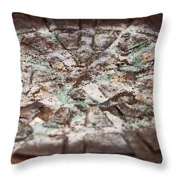 Colorful Lid Throw Pillow by Rod Flasch