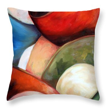 Colorful Lights Throw Pillow