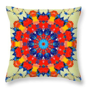 Colorful Mandala Throw Pillow by Ana Maria Edulescu