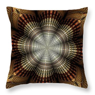 Colorful Metals Kaleidoscope Throw Pillow