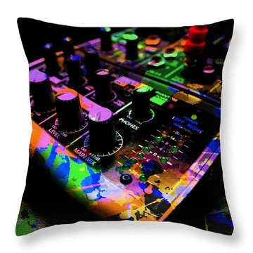 Throw Pillow featuring the photograph Mixing Colors by Aaron Berg