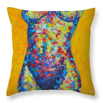 Colorful Nude  Throw Pillow