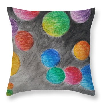 Colorful Orbs Throw Pillow