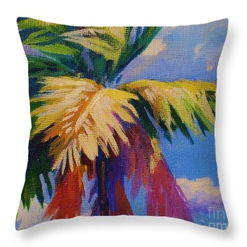 Colorful Palm Throw Pillow