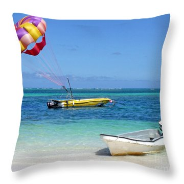 Colorful Parachute - Waiting To Parasail Throw Pillow