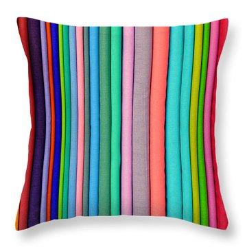 Colorful Pashminas Throw Pillow