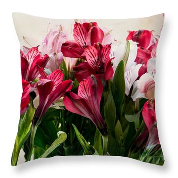 Colorful Peruvian Lillys Throw Pillow