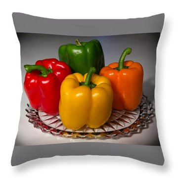 Colorful Platter Throw Pillow by Shane Bechler