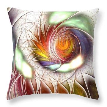 Colorful Promenade Throw Pillow