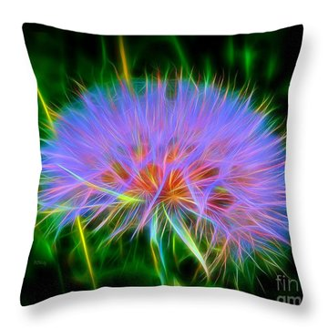 Colorful Puffball Throw Pillow