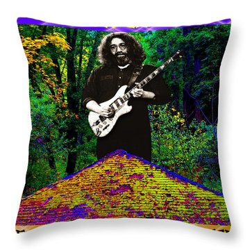 Throw Pillow featuring the photograph Colorful Pyramid Concert by Ben Upham