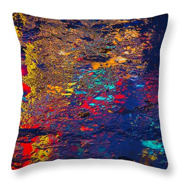 Colorful Reflections Throw Pillow by Garry Gay