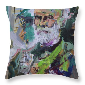 Colorful Robert E Lee Portrait Throw Pillow