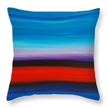 Colorful Shore - Abstract Art By Sharon Cummings Throw Pillow by Sharon Cummings