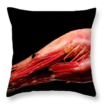 Colorful Shrimp Throw Pillow by Tommytechno Sweden