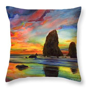 Colorful Solitude Throw Pillow by Hailey E Herrera
