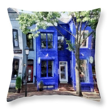 Alexandria Va - Colorful Street Throw Pillow