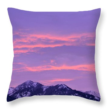Throw Pillow featuring the photograph Colorful Sunrise No. 2 by Dorrene BrownButterfield